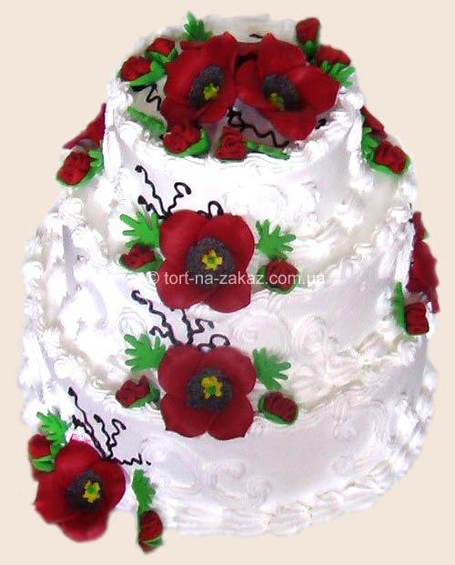 Торт №29 к списку свадебный торт
