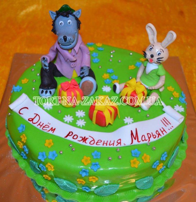 Детский торт с котом фото 3