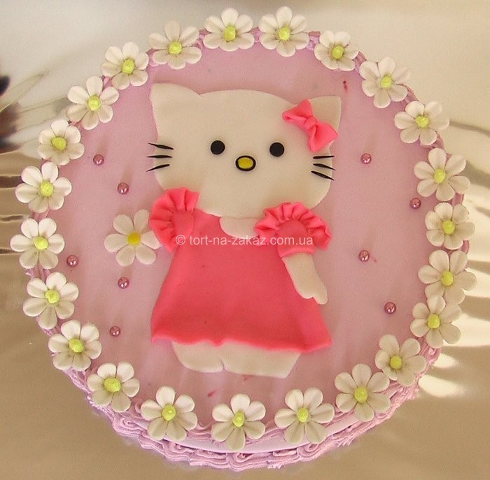 "Торт  ""Hello Kitty "" (мастика) - 24.  К списку (Детские торты на заказ)"