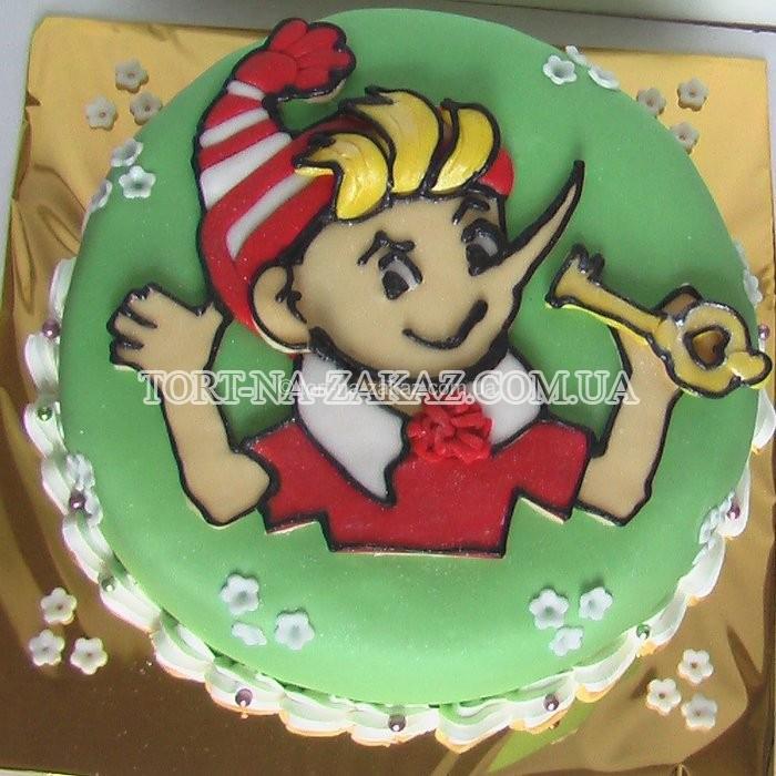 Оформление детских тортов фото из буратино
