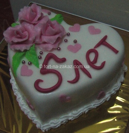 Торт на ювілей весілля - №60