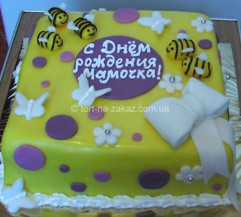 Красивий торт на день народження - №21