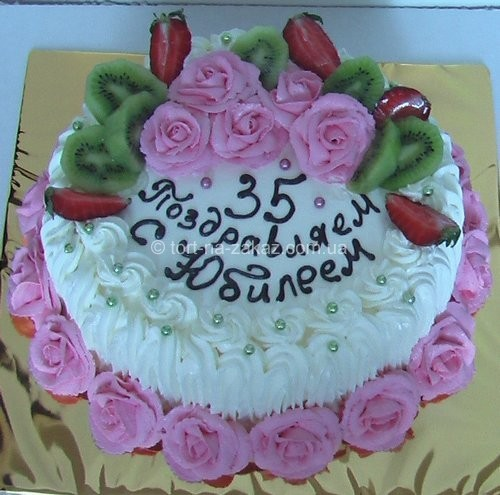 Торт с фруктами и сливками - №20