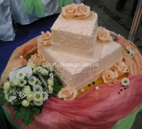 Красивый праздничный торт - №17