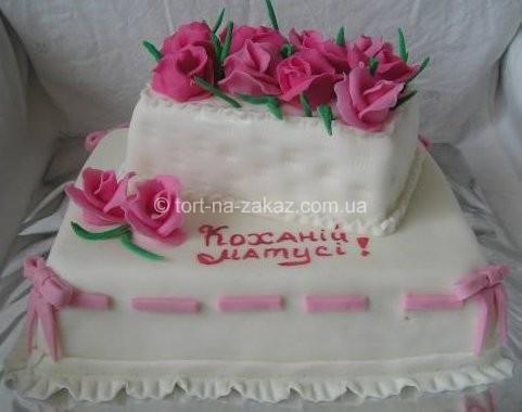 Большой праздничный торт для мамы - №15