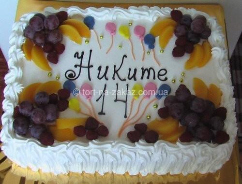Торт бисквитный с фруктами - №14