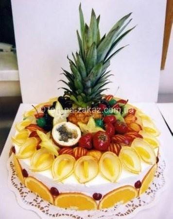 Оригинальный торт с фруктами - №2