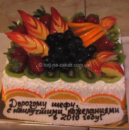 Новогодний торт с фруктами - №29