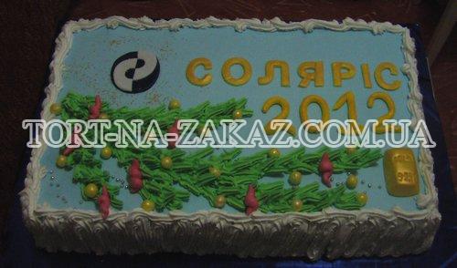 Корпоративный торт на Новый Год №1