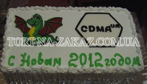 Новорічний торт з логотипом №2