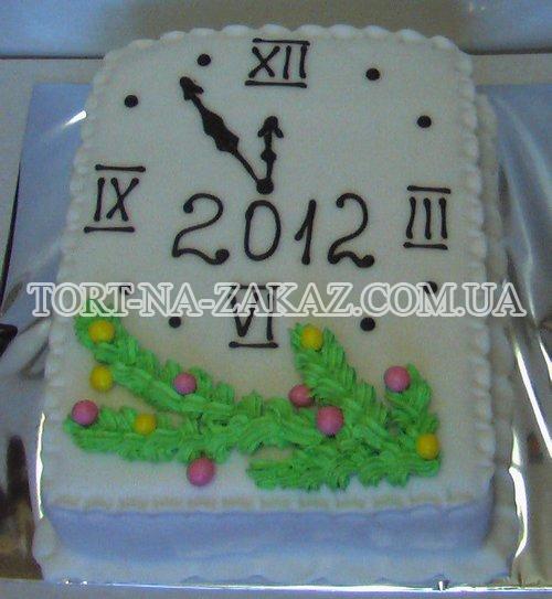Новогодний торт на заказ Часики №5