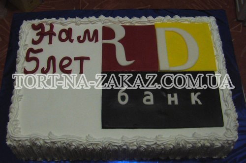 Новогодний торт с логотипом №6