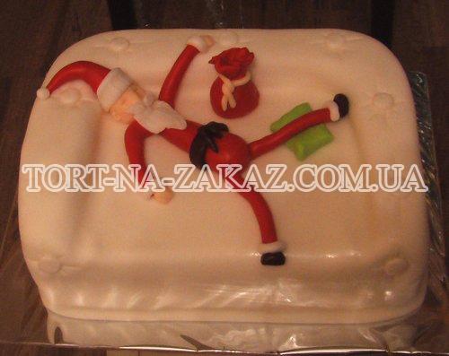 Новогодний торт Дед Мороз №7