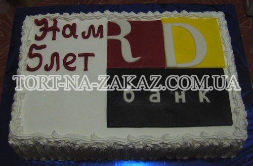 Корпоративный торт с логотипом №8