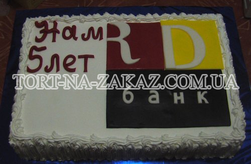 Корпоративний торт з логотипом №8