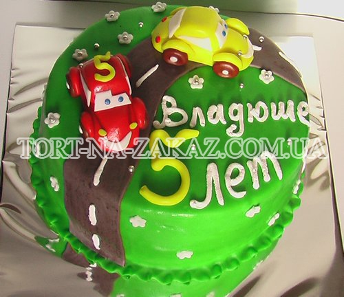 Дитячий торт Тачки №40