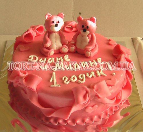 Детский торт Медведи №41