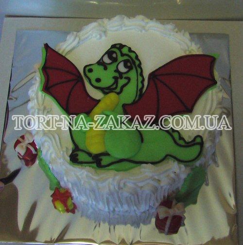 Детский торт Дракончик №43