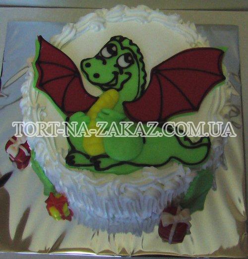 Дитячий торт Дракончик №43