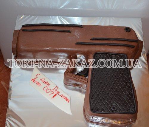 """Торт """"Пистолет"""" №21"""