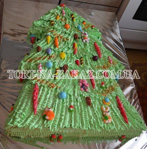 """Новорічний торт """"Ялинка"""" №9"""