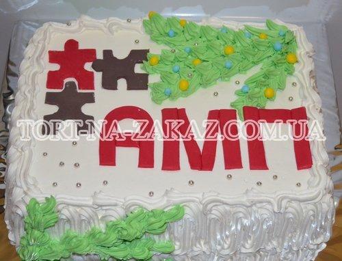 Корпоративний новорічний торт №10
