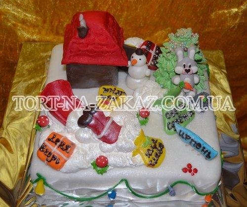Новорічний торт на замовлення №11