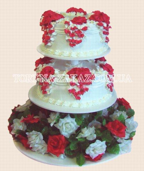 Двох'ярусний торт на підставці - №8