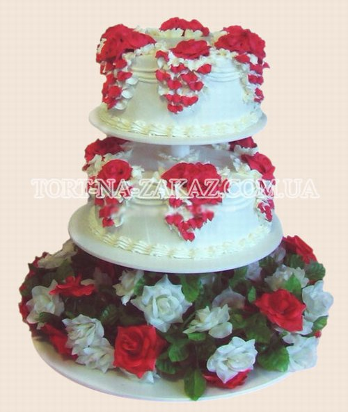 Двухъярусный торт на подставке - №8