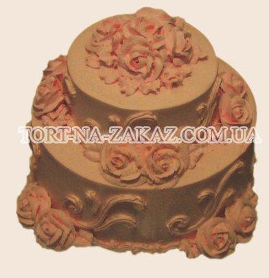 Двухъярусный торт с розами - №11