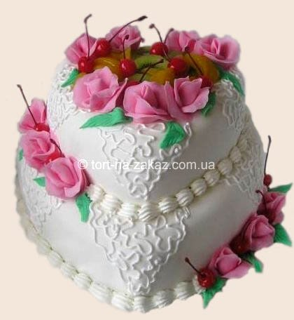 Двухъярусный торт-сердце - №15
