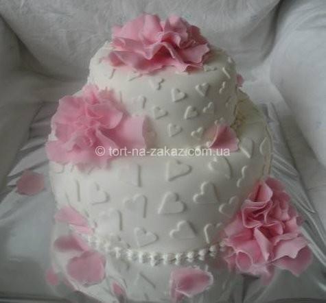 Красивий весільний торт - №16