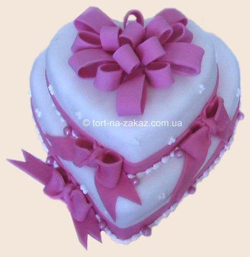 Свадебный торт-сердце - №24