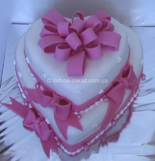 Весільний торт-серце - №24