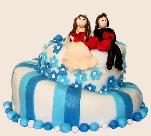 Модный свадебный торт - №26