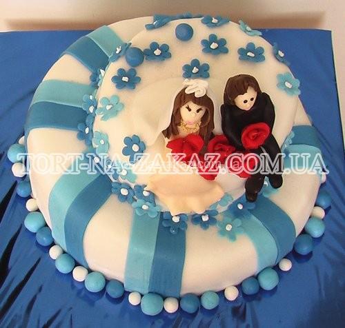 Модний весільний торт - №26