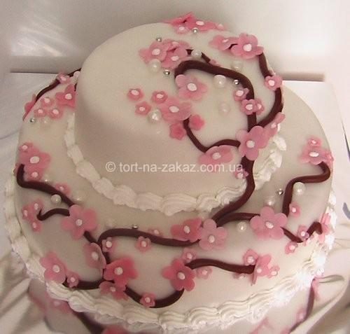 Двох'ярусний весільний торт - №27