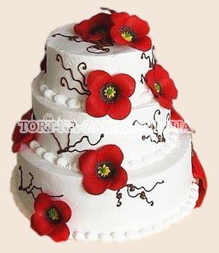 Свадебный торт с маками - №30