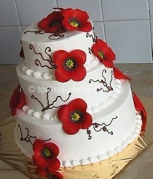 Весільний торт з маками - №30