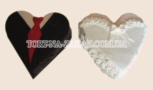 Оригинальный свадебный торт - №4