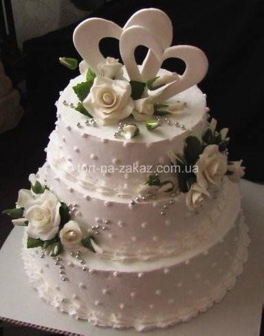 Ексклюзивний весільний торт - №31