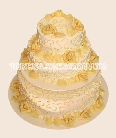 Свадебный торт на подставке - №36