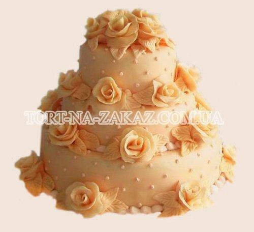 Торт свадебный большой - №41