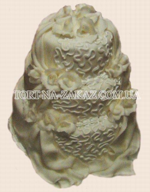 Белый торт с розами - №42