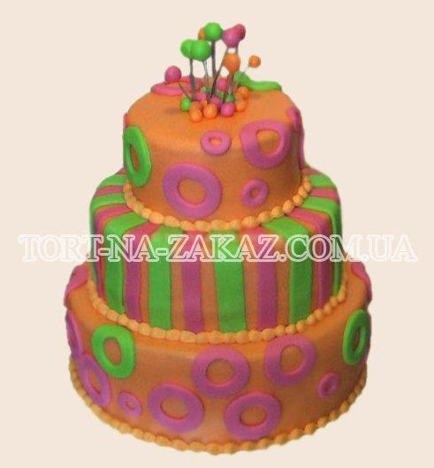 Яркий свадебный торт - №44