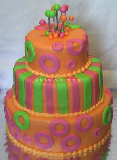 Яскравий весільний торт - №44