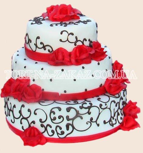 Красивый свадебный торт - №45