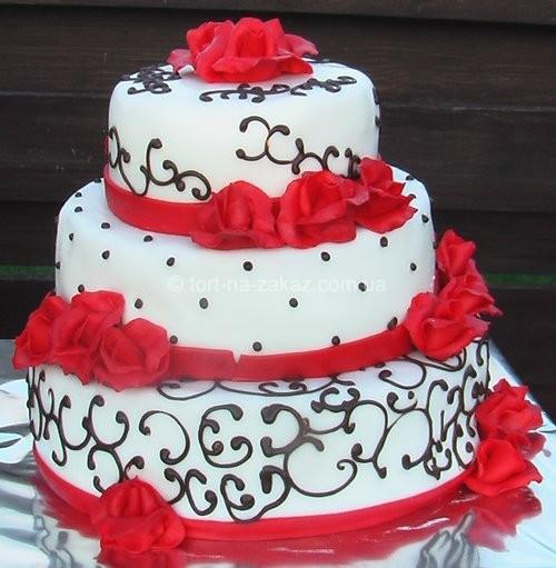 Красивий весільний торт - №45