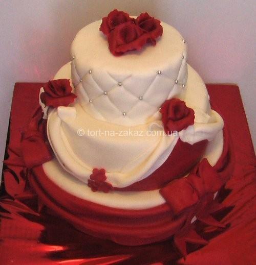 Триярусний весільний торт - №51