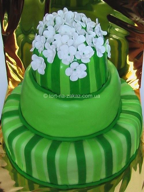 Зелений весільний торт - №53